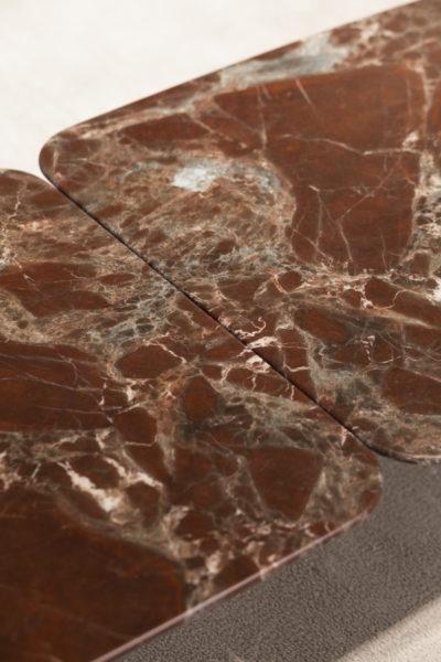 Zanotta Graphium graphium - marmer lepanto rosso - basis zwart