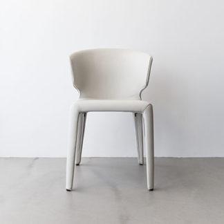 HolaHola stoel in leder 13y285 cenere, voetjes zwart