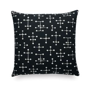 Classic Maharam Pillowssmall dot pattern, zwart