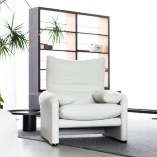 MaralungaMaralunga fauteuil in leder extra cenere (beige)