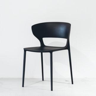KokiKoki stoel zitschaal zwart, onderstel zwart gelakt