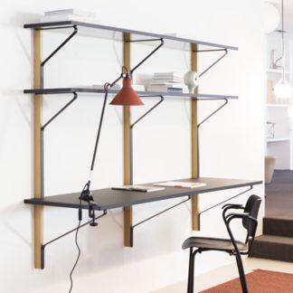 REB 010 Kaari Shelf with deskREB 010 Kaari Shelf met bureau