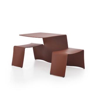 PicnikPicnik tafel/zitcombinatie - koperbruin (RAL8004)