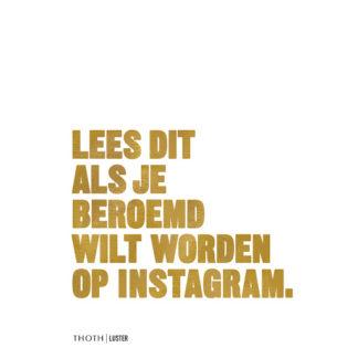 Lees dit als je beroemd wilt worden op InstagramLees dit als je beroemd wilt worden op Instagram, boek