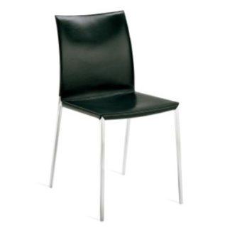 LiaLia stoel 2086-2087 zonder armleuningen Stoel met structuur in gepolijste of gelakte aluminiumlegering, zwart, grafiet of wit. Zitting, rugleuning en armen gestoffeerd in polyurethaan. Afneembare hoes in stof of leder of niet afneembaar in leer. De perfecte stoel voor elk interieur