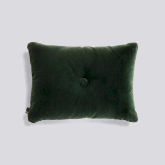 Dot Cushion SoftDot cushion soft, donker groen - fluweel