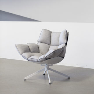 Huskhusk - outdoor fauteuil - basis wit aluminium - bekleding stof ecate