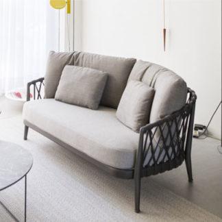 Ericaerica - outdoor sofa - structuur antraciet gelakt - zitkussen stof lesia - rugkussen stof scirocco - rug antraciet
