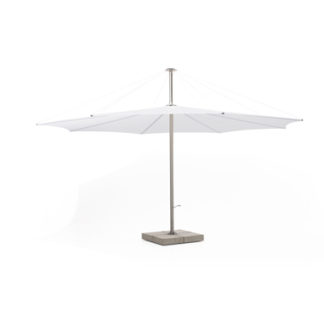 Inumbrainumbra - ø400 cm - hi-tech polyester wit - rvs buis