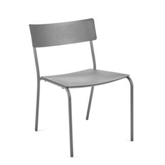 Augustaugust - zonder armleuningen - aluminium grijs