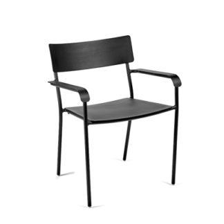 Augustaugust - met armleuningen - aluminium zwart