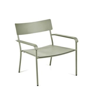 Augustaugust - loungestoel - aluminium eucalyptus groen