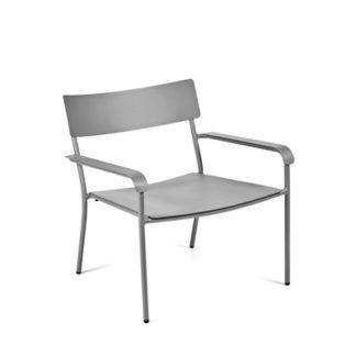 Augustaugust - loungestoel - aluminium grijs