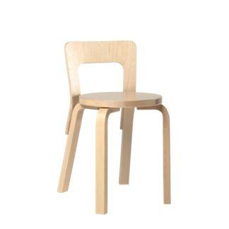 Chair 65 Chair 65 ongemonteerd poten en rugleuning gelakt naturel berken, zitting in berken fineer zithoogte 45,5cm