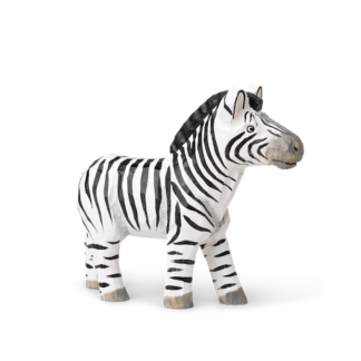 Animal Hand-Carved Zebrazebra - handgesneden - zwart en wit