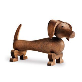 Dogdog - bruin - walnotenhout
