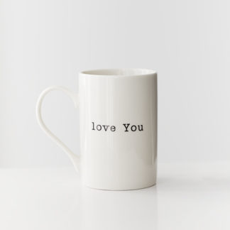 Tas 'Love You'beker / koffietas 'love you'