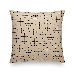 Classic Maharam Pillowssmall dot pattern, beige