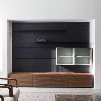 Modernmodern - notenhout & transparant glas