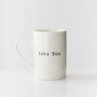 Tas 'Love You'beker / koffietas 'love you'