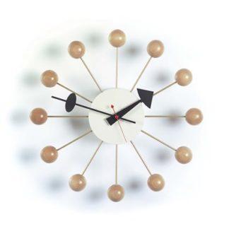 Ball Clockball clock, naturel hout