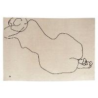 Chilida figura humanaChilida figura humana tapijt beige, figuur zwart