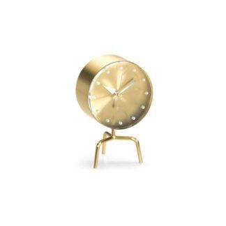 Desk Clockstripod clock, messing