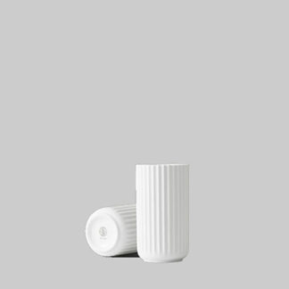 Lyngby vaselyngby vase, mat wit porselein