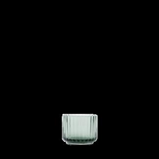Lyngby tealighttheelichthouder - groen - mondgeblazen glas