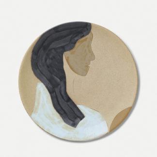 Hessa Ceramic Platter - MultiHessa Ceramic Platter - Multi