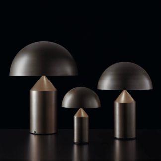 Atollo atollo - tafellamp - medium - satijn brons
