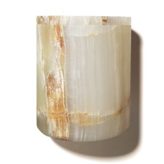 Stone Candle Holderstone candle holder - natural onyx