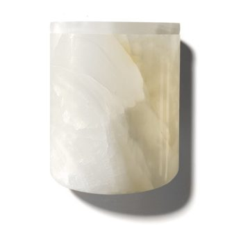 Stone Candle Holderstone candle holder - white onyx