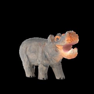 Animal Hand-Carved Hipponijlpaard - handgesneden - grijs