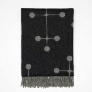 Eames Wool Blanketeames wool blanket, dot pattern zwart