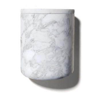 Stone Candle Holderstone candle holder - carrara