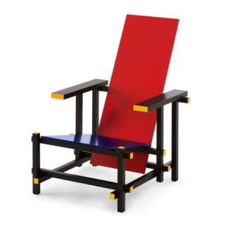 Red and BlueRed and Blue, beukenhout gelakt: geel, rood, blauw en zwart